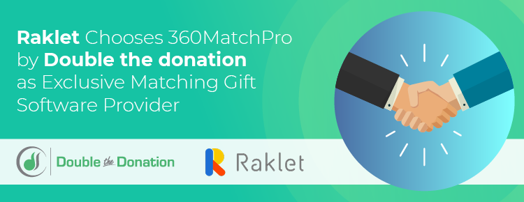 Raklet Chooses 360MatchPro by Double the Donation as Exclusive Matching Gift Software