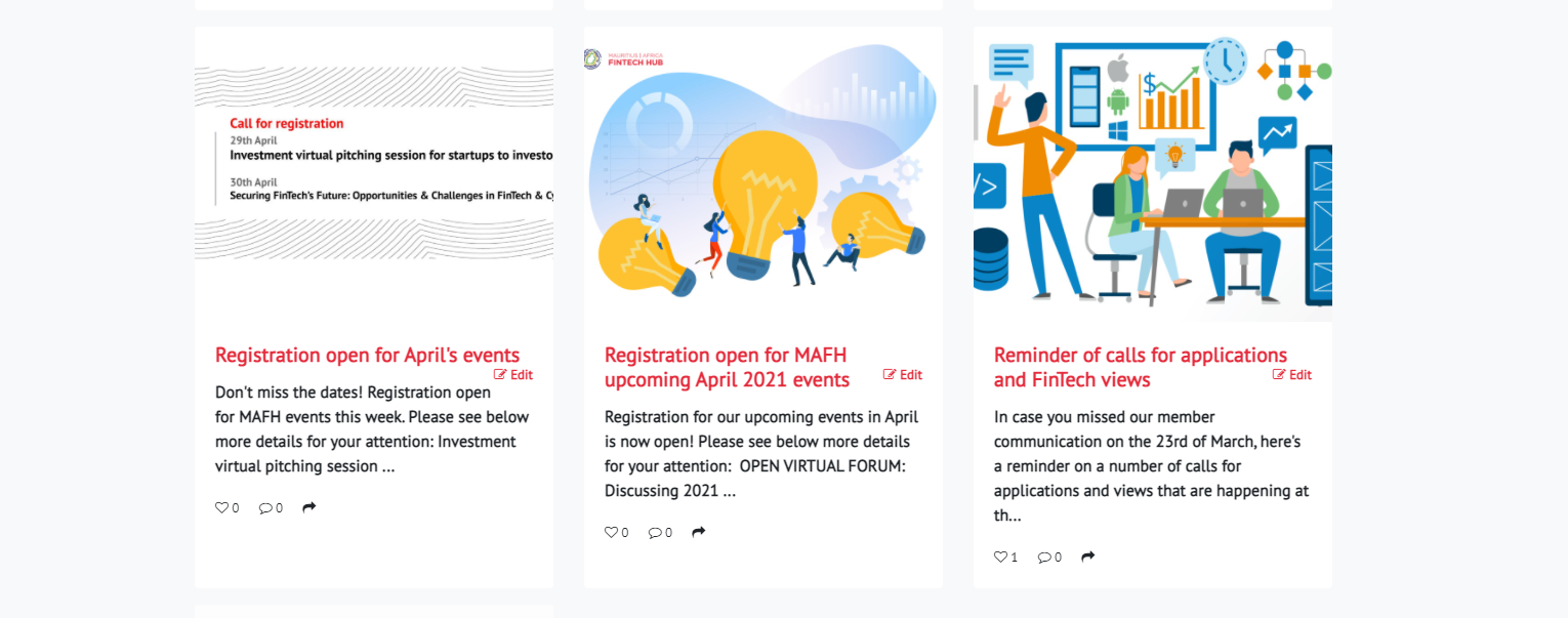 Example posts of Fintech