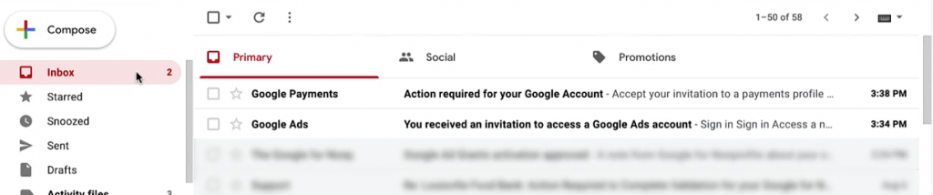 Google Nonprofit Ad Grant - Step 8 - Check your emails