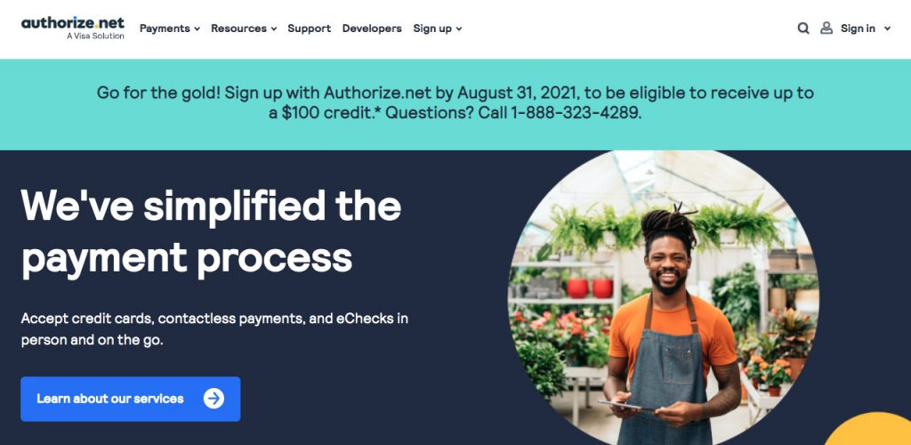2. Authorize.net as one of the alternatives to PayPal